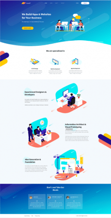 Landing page(HTML/CSS/JQuery)