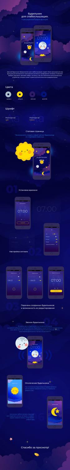 Дизайн приложения будильника