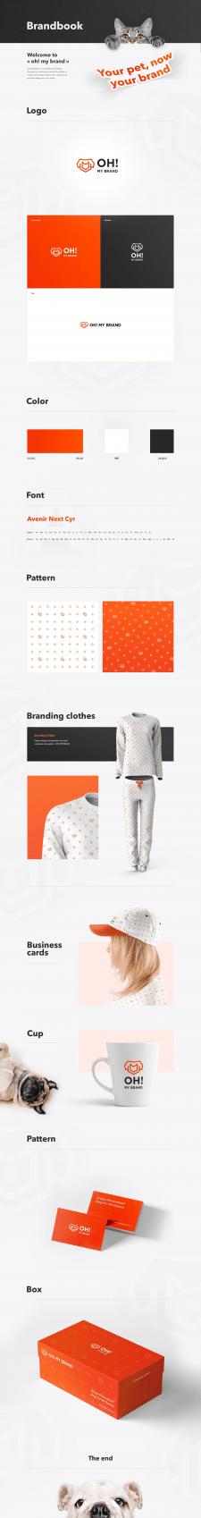 Разработка фирменного стиля Oh! My brand