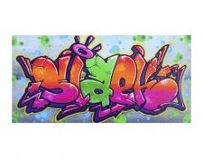 Роспись картины в стиле граффити - Slaekone