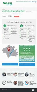 Корпоративный сайт для сети автомоек Германии