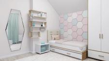 Современная комната для девочки-подростка (12 м.кв
