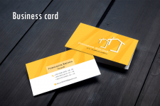 Business card for construction work