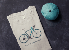 T-shirt design for bikelovers