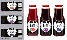 Серия этикеток на натуральные соки
