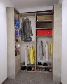 Визуализация шкафа с наполнением