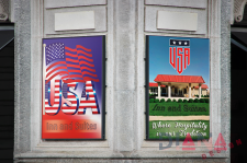 Signboards for a USA Inn & Suites