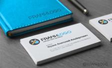 Блокнот, визитки для дизайн-студии Franklogo