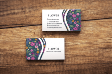 business card flower