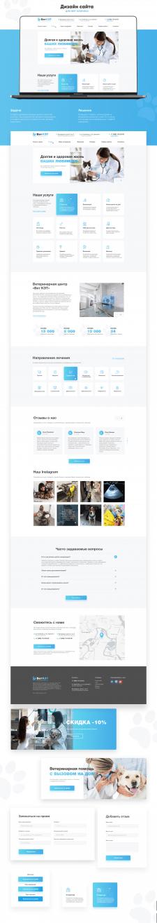 Дизайн сайта для ветеренарной клиники