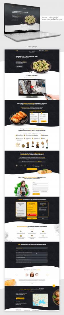 Дизайн Landing Page полуфабрикаты