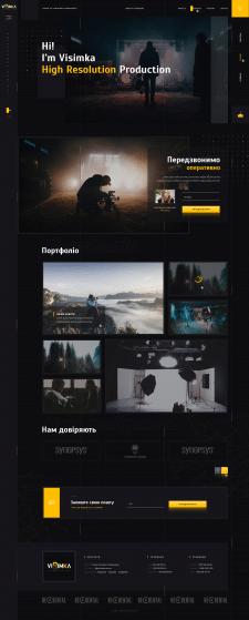 Дизайн сайта по аренде студий для съемок