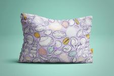 Подушка с морским принтом