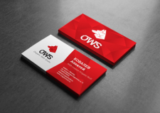 Визитка для дизайн-студии OWS