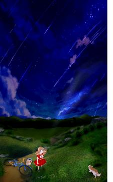 Девочка смотрящая в небо.