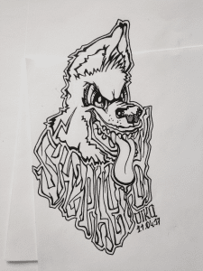 Dog. Tatto. vector