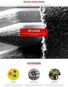 Разработка сайта Kidsatelie Онлайн запись на курсы