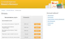 Список услуг с онлайн оплатой (Bitrix)