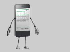 3D модель телефона персонажного типа