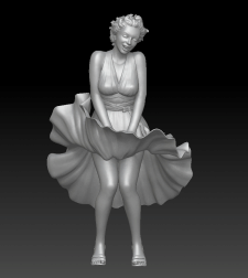 3д-скульптура Мерилин Монро  (3d-sculpture Marily)