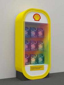 выставочный стенд под машинное масло