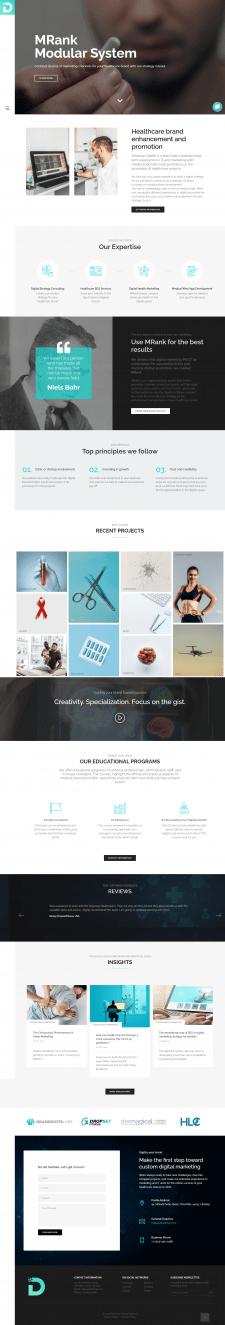 Создание сайта медицинской лаборатории