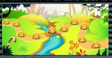 поле прохождения уровней для моб. игры