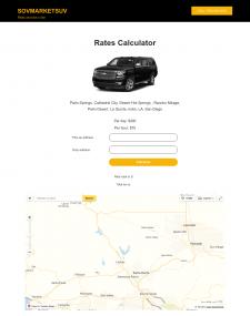 Калькулятор стоимости поездки под Wordpress