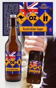 """этикетка для крафтового пива """"Оз"""""""