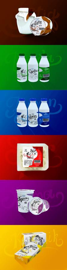 дизайн линейки молочных продуктов (Азербайджан)