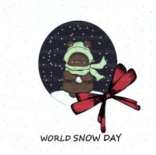 """Векторная иллюстрация """"Всемирный день снега"""""""