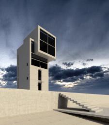 Дом 4×4. Проект Tadao Ando (Revit 2014)