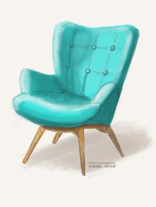 Мятное кресло