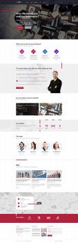 Landing page Бизнес компании