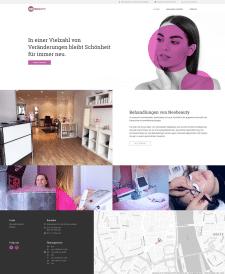 Сайт для немецкого салона красоты Neobeauty