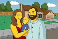 Семейный портрет в стиле Симпсоны