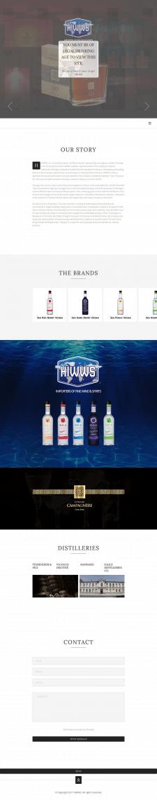 Сайт для алкогольной компании