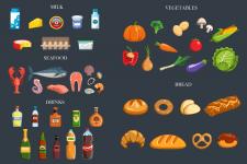Иконки еды для стока