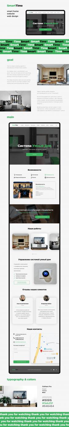 Дизайн сайта продажи Системы умного дома