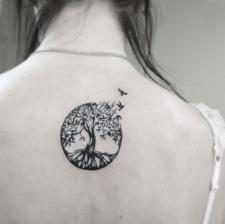 Тату дерево жизни tree of life