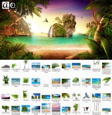 Коллаж тропики