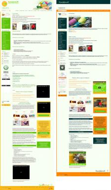 Смена цвета и логотипов на сайте rukademia.ru