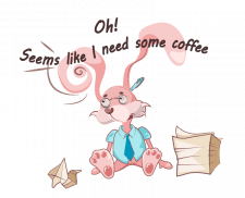 занятой кролик