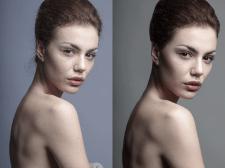 Детальная ретушь кожи и цветокоррекция