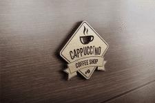 Логотип кофейного магазина