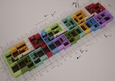 3Д планировка секции