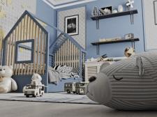 Дизайн-проект детской комнаты для мальчиков