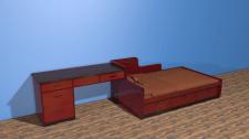 Единый блок кровать+стол