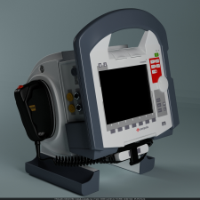 Дефибрилятор 3ds max, V-ray