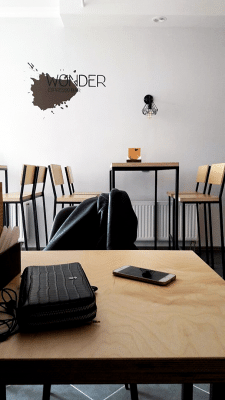 Интерьер кофейни в стиле лофт